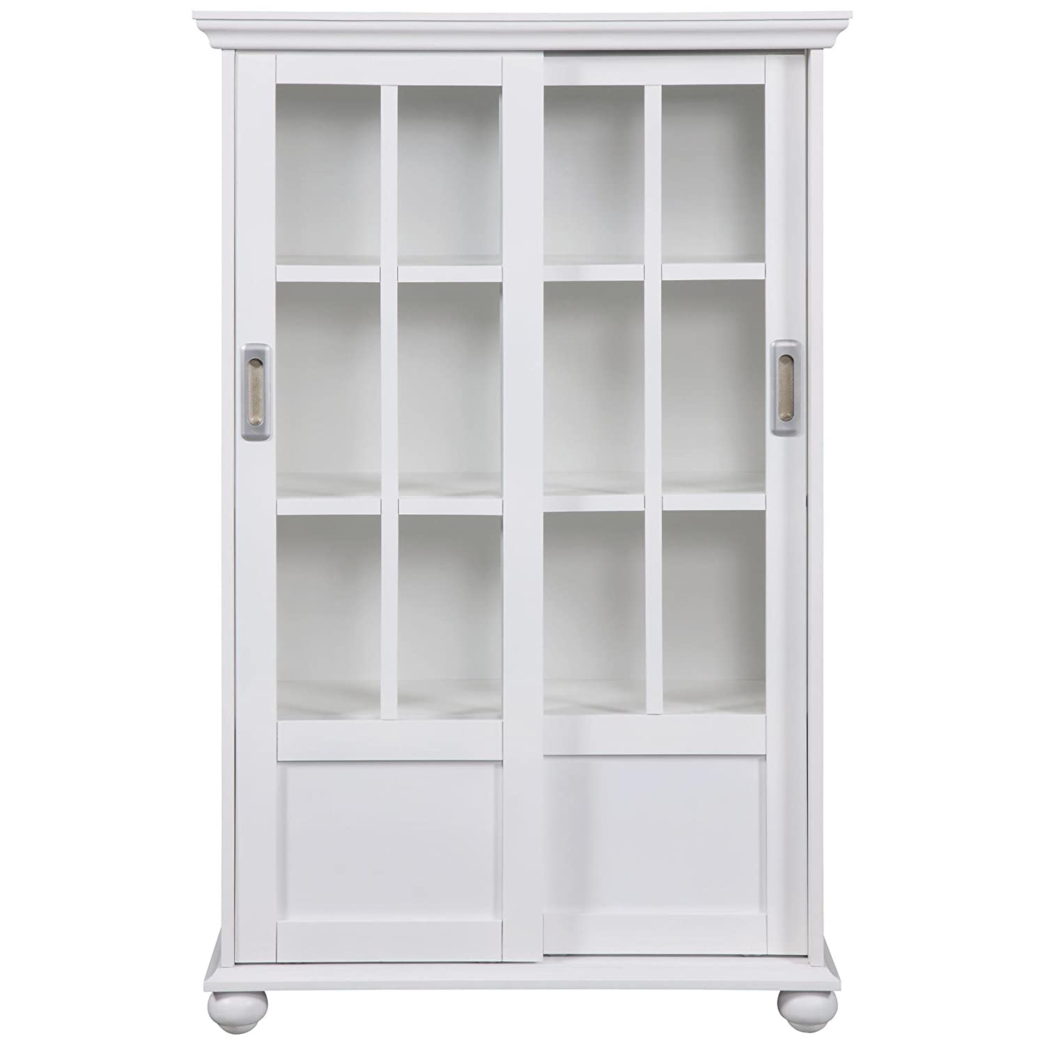 altra aaron lane bookcase with sliding glass doors