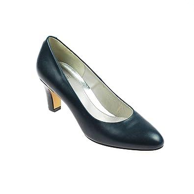 1c4b93255fc95 Perlato Damen Pumps Leder Blau, Schuhgröße:41: Amazon.de: Schuhe ...