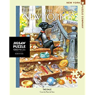 New York Puzzle Company - New Yorker Tag Sale - 1000 Piece Jigsaw Puzzle: Toys & Games