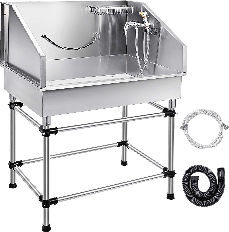 Bañera, grifo , pulverizador,  kit de drenaje mangueras de agua fría y caliente tubo de drenaje, rejilla para champú de acero inoxidable