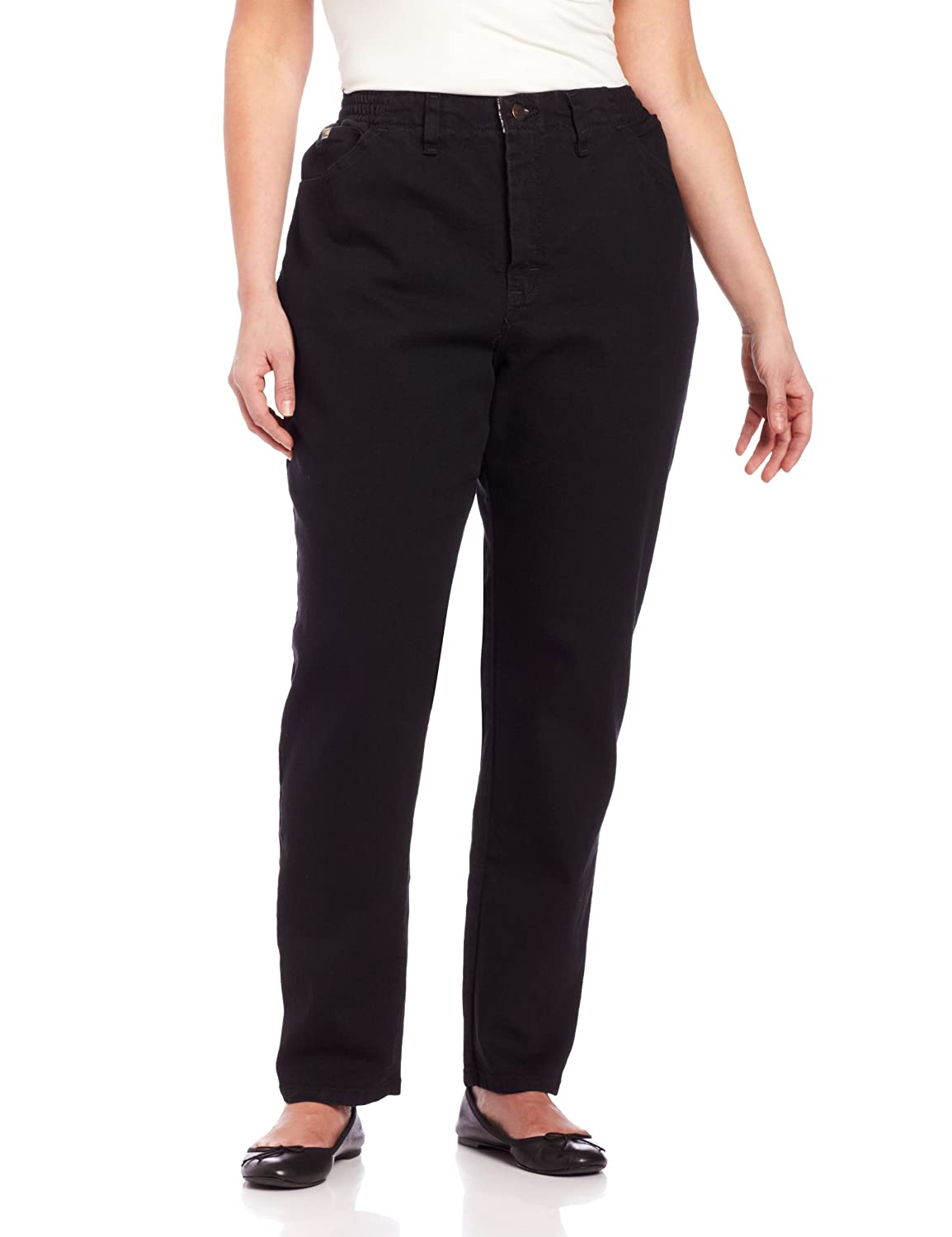 Lee womens plus-size Plus Size Relaxed-fit Elastic-waist Jean 3086144