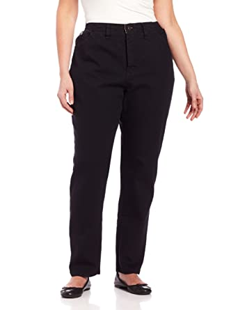 81ef7f71 Amazon.com: LEE Women's Plus Size Relaxed-Fit Elastic-Waist Jean: Clothing