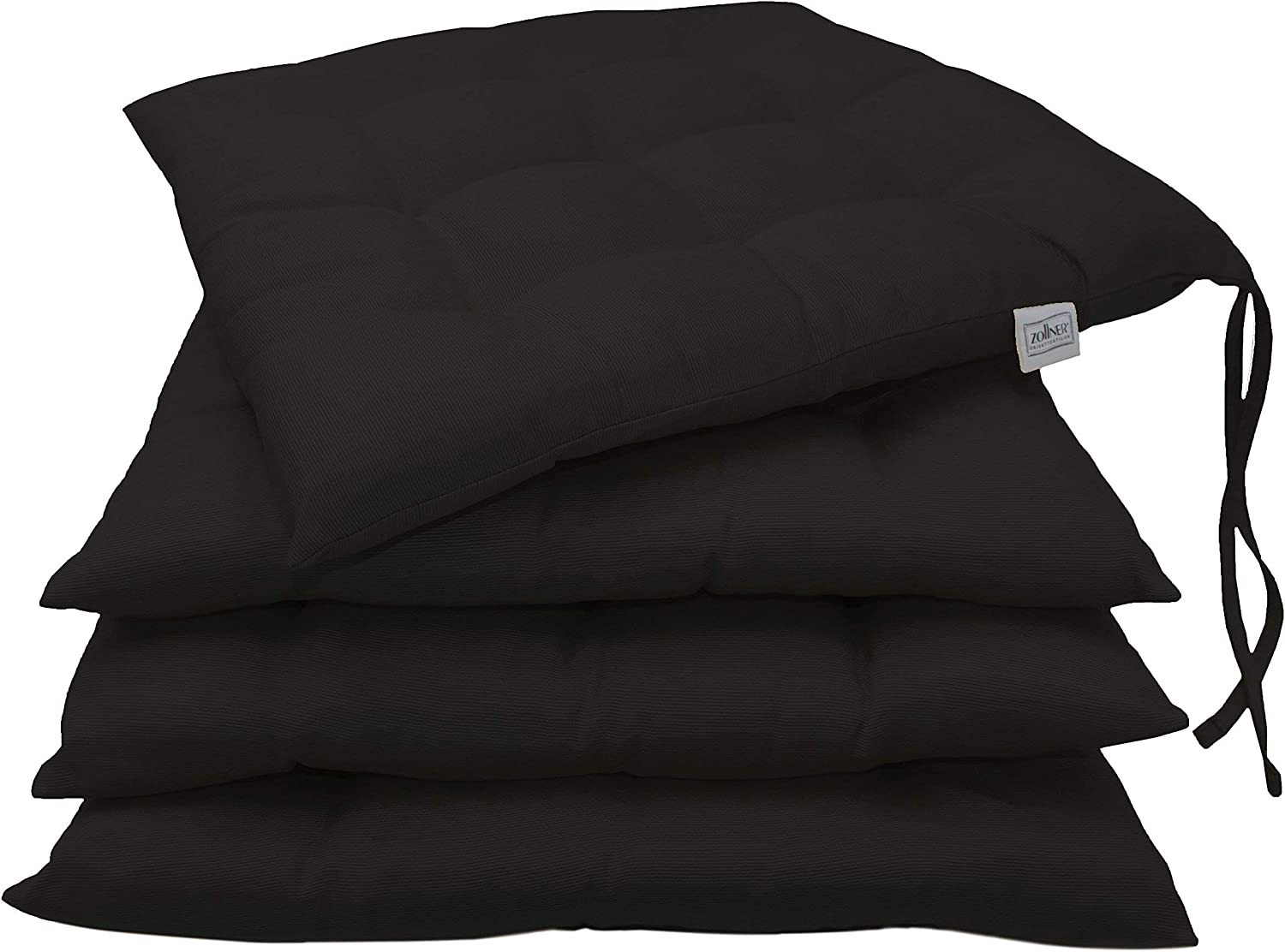 anthracite others available ZOLLNER set of 4 chair cushions ca 40x40 cm