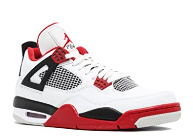 detailed pictures 1bbff bf1dc Image Unavailable. Image not available for. Color  Air Jordan 4 Retro  quot  Fire Red quot  - 308497 110