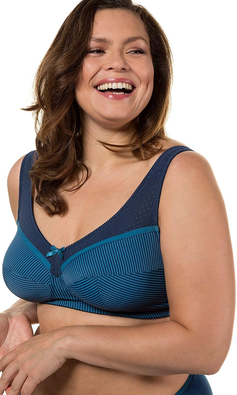 Ulla Popken Womens Plus Size Stripe Support Bra 711785