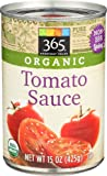 365 Everyday Value, Organic Tomato Sauce, 15 Ounce
