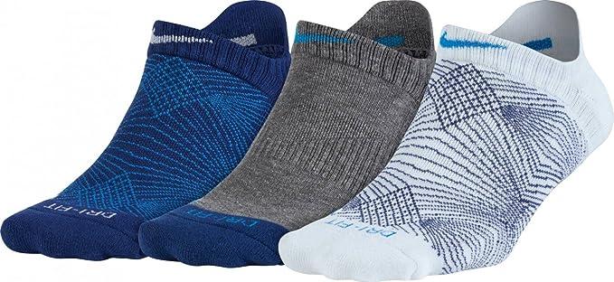 Nike 3PPK Womens DRI FIT Graphic 2 Pack 3 Pares de ...
