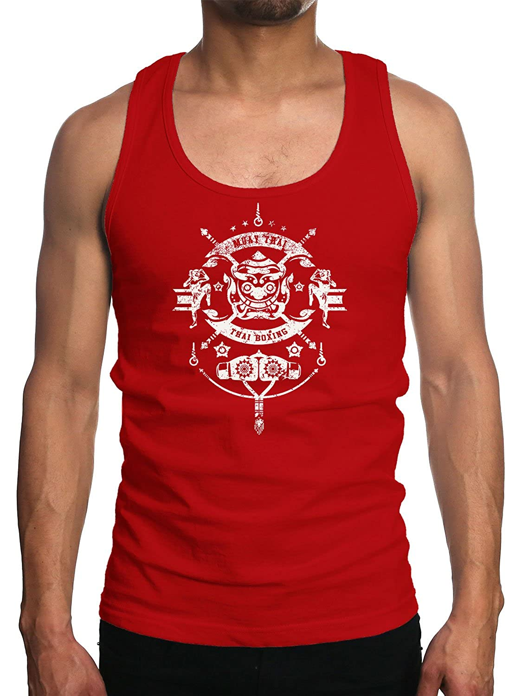 Young Motto Men's MUAY THAI BOXING DRAGON Tank Top 1057137-TT