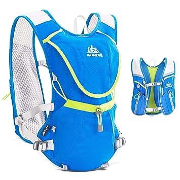 TRIWONDER Chaleco de Hidratación Ligero 8L Superior Mochila para Trail Running Ciclismo Maratón al Aire Libre Hombre Mujer (Azul - Solo Chaleco): Amazon.es: ...