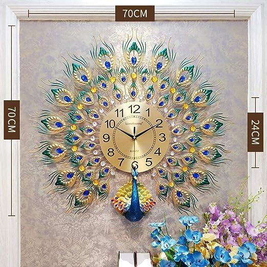 Luxury Metal Diamonds Flower 3D Wall Clock For Office House Living Room Decor