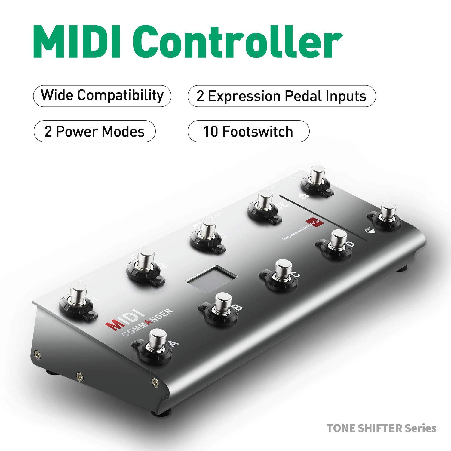 Sports & Entertainment Midi Commander Guitar Portable Usb Midi Foot Controller With 10 Foot Switches 2 Expression Pedal Jacks 8 Host Presets Guitar Parts & Accessories