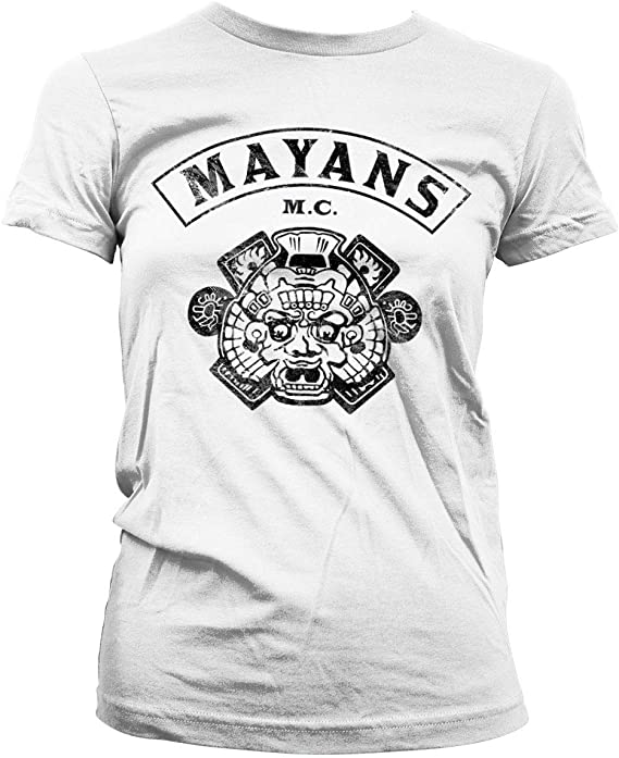 Officially Licensed Mayans M.C Kutte Baseball Long Sleeve T-Shirt S-XXL Sizes