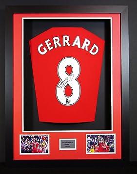 Steven Gerrard Liverpool Signed Shirt 3D Framed Display with COA ... 6b69287ed