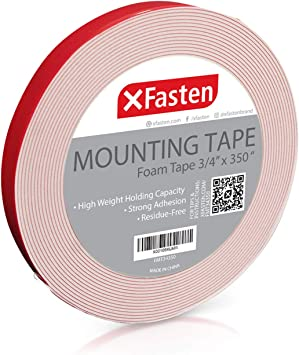 Pack of 3 XFasten Double Sided Tape Foam Mounting Tape 1-inch x 150-Inch
