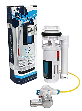 high efficiency toilet kit one2flush conversion kit reduces water usage by 40 with unique - Power Flush Toilet