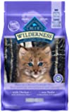 Blue Buffalo Wilderness High Protein Grain Free, Natural Kitten Dry Cat Food, Chicken 2.2kg bag - Medium Bag, kibble