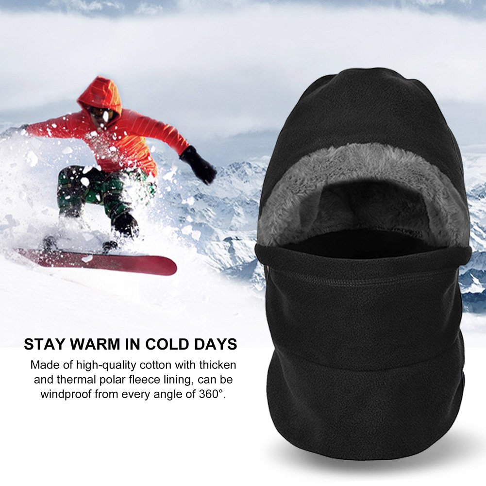Vbiger Thermal Balaclava Hood Full Face Cover Mask and Neck Warmer for Motorcycle Cycling