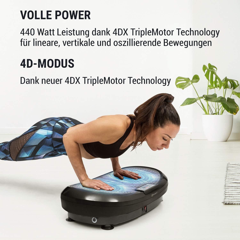 10 Modi 4DX TripleMotor Klarfit Vibe 4DX Vibrationsplatte 440 W