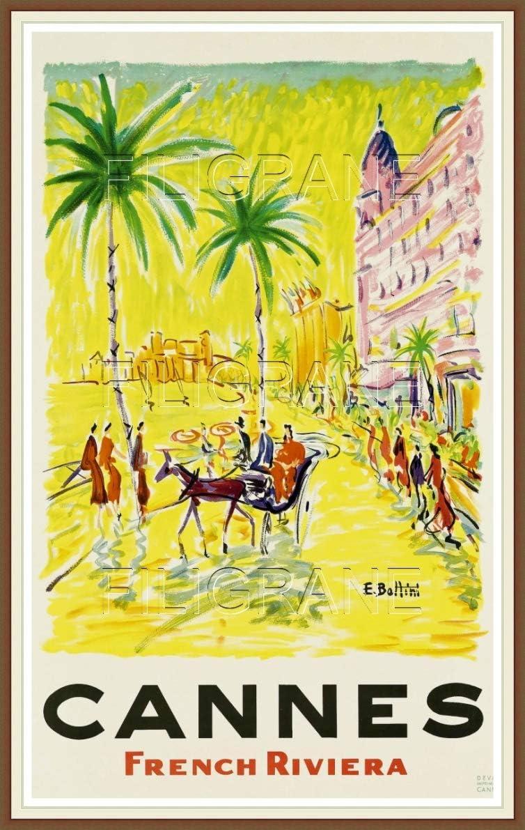 Format 40 x 60 cm Affiche Vintage//Retro de Cannes