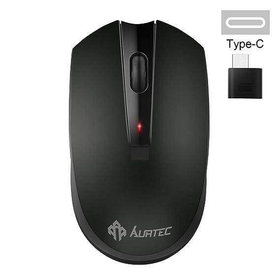 Ratón inalámbrico tipo C, ratones inalámbricos AURTEC de 2,4 GHz USB para Chromebook, computadora portátil USB C y más dispositivos USB C: Amazon.es: ...