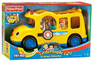 Fisher-Price Little People Lil\' Movers School Bus With Three ...