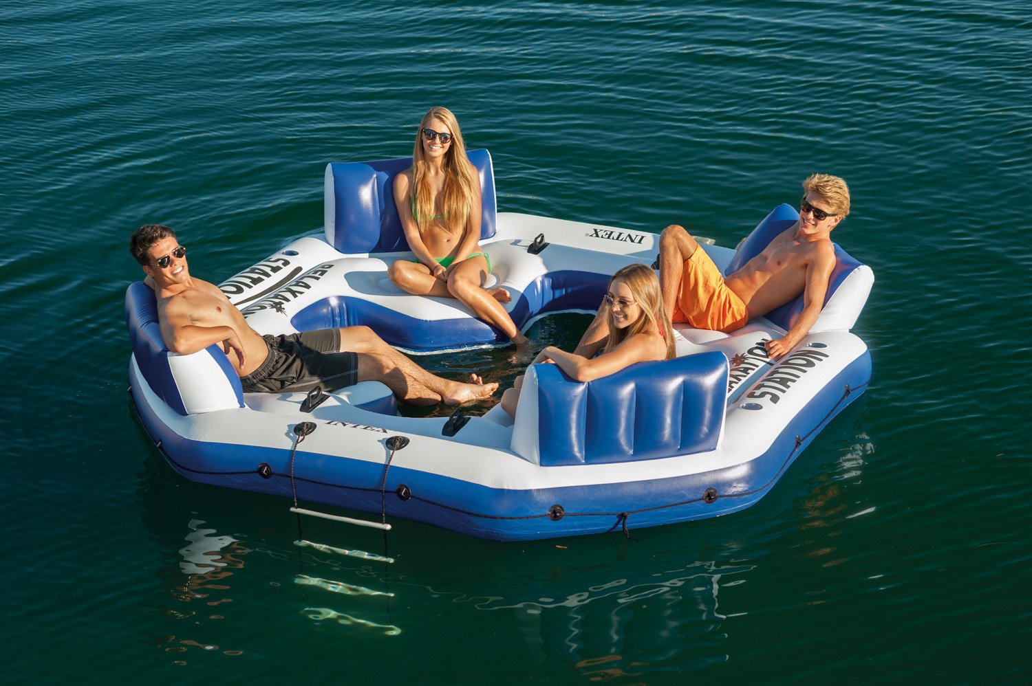 Awesome Amazon.com: Intex Pacific Paradise Relaxation Station Water Lounge 4 Person  River Tube Raft: Sports U0026 Outdoors