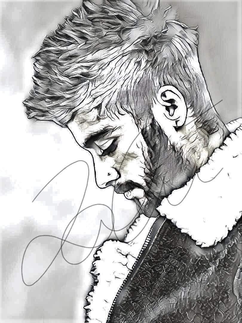 Amazon com zayn malik sketch drawing print poster hand drawn pencil singer zayn sketch3 handmade