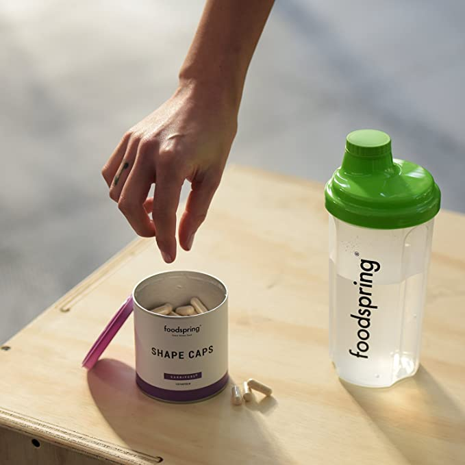 foodspring Shape Caps, 120 cápsulas, Ayudante inteligente para tu entrenamiento de tonificación: Amazon.es: Salud y cuidado personal