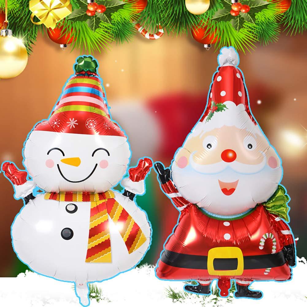 Santa Claus Bangle009 Popular Large Santa Clause Snowman Aluminum Foil Balloon Christmas Party Home Decor Gift