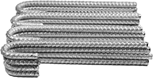 Pinnacle Mercantile 16-Pack Rebar J Hooks Extra Heavy Duty Galvanized Anti Rust 1/2 inch Round 12 inches Long