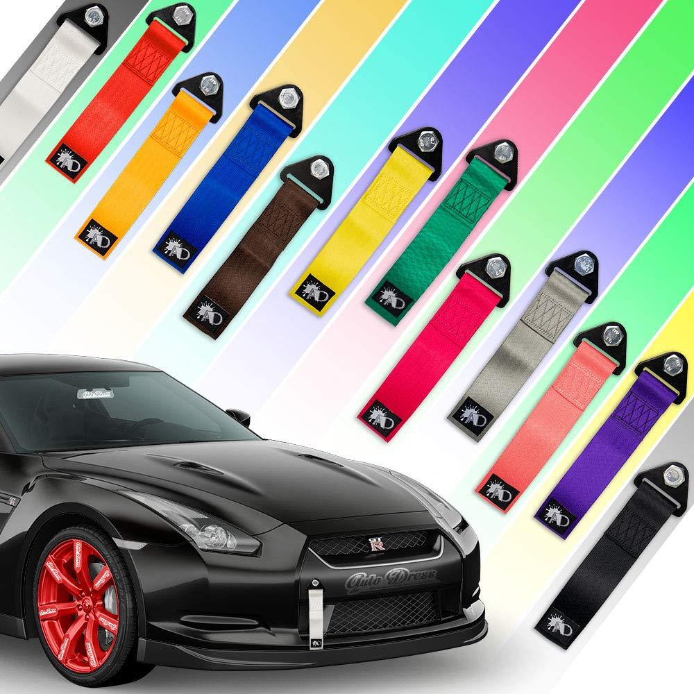 Auto-Dress passante per auto –  per rally e sport motoristici, gancio di traino, in 9 colori: Nero, Rosso, Arancione, Giallo, Verde, Blu, Viola, Grigio, Rosa AD-AS-ALL