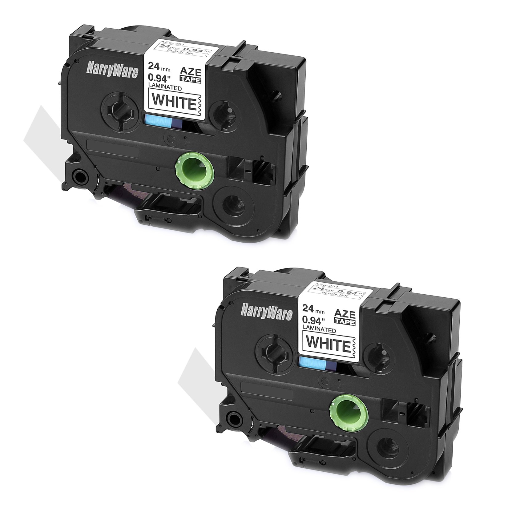 SIENOC 2x Compatible For Brother TZ 251 TZe 251 P-Touch 26.2ft Black on White Label Tape 24mmx8m