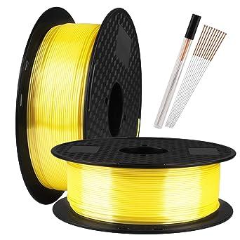 Filamento PLA para impresora 3D TTYT3D de seda amarilla, 1,75 mm ...