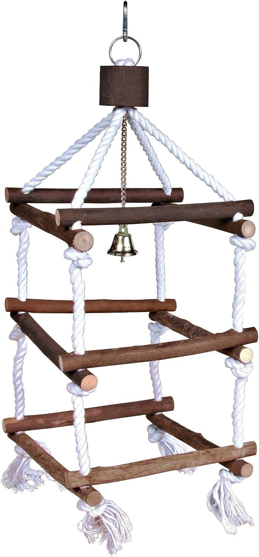 Trixie Escalera Andamio de madera natural, Torre con tímpano reciclado – Grande: 51 cm: Amazon.es: Productos para mascotas
