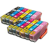 The Ink Squid 2 Sets of Epson T2431-6XL (12 Cartridges) 'Elephant' Non-oem T2431/T2432/T2433/T2434/T2435/T2436 Compatible Ink Cartridges for Epson XP-55 XP-750 XP-760 XP-850 XP-860 XP-950 XP-960 Printers
