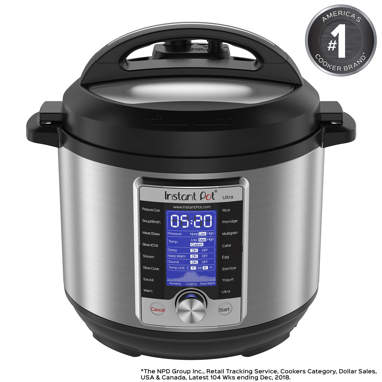 Instant Pot Ultra 6 Qt 10-in-1 Multi- Use Programmable Pressure Cooker, Slow Cooker, Rice Cooker, Yogurt Maker, Cake Maker, Egg Cooker, Sauté, Steamer, Warmer, and Sterilizer by Instant Pot
