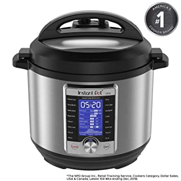 Instant Pot Ultra 6 Qt 10-in-1 Multi- Use Programmable Pressure Cooker,  Slow Cooker, Rice Cooker, Yogurt Maker, Cake Maker, Egg Cooker, Sauté,