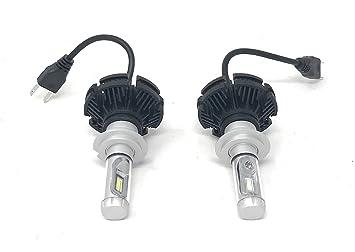 Par de bombillas LED para coche X3 H7, 6000 lm, 50 W, luz blanca: Amazon.es: Coche y moto