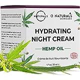 O Naturals Repairing Organic Hemp Oil Face Moisturizer Hydrating Night Cream. Hyaluronic Acid Anti Aging Face & Neck…