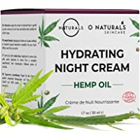 O Naturals Organic Hemp Hydrating Night Cream, Face & Neck Moisturizer. Hyaluronic Acid, Moisturizers Dry Skin for Women…