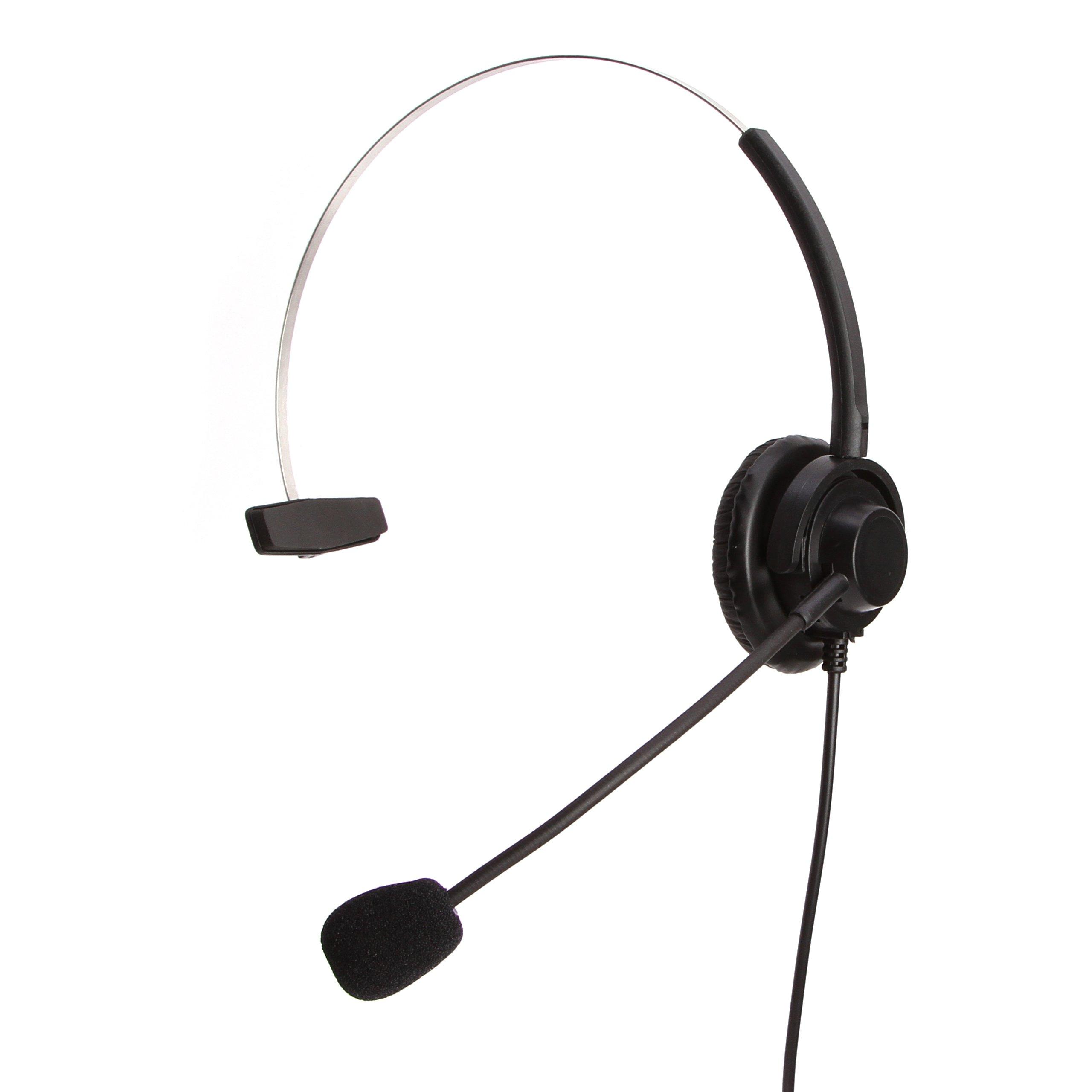 Headset Headphones Volume+Mute Control+Standard 2.5mm Plug Jack Cisco Spa Series Spa303 Spa504g Other, Polycom Soundpoint Ip 320 330, Grandstream, Linksys, Panasonic, Cortelco