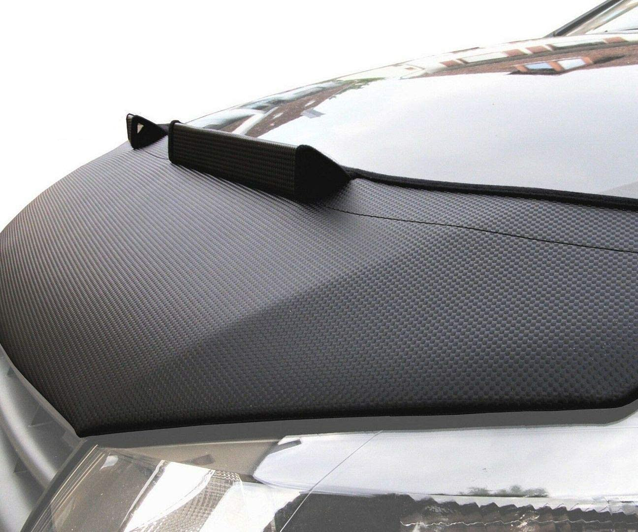 Black Tief Tech Bonnet Hood Bra for Transporter T5 T6 Facelift Engine Hoodcover Stone impact protection Stoneguard