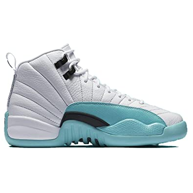 finest selection f1374 0f97d ... discount code for nike jordan kids air 12 retro gs white light aqua  black youth de919 ...