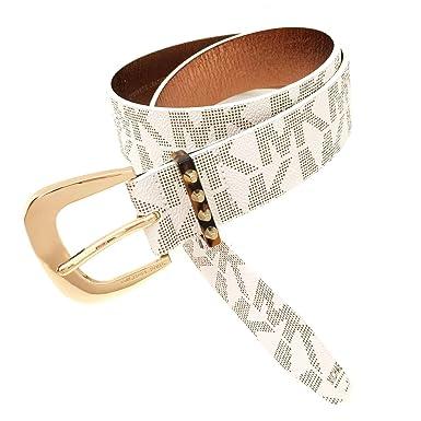 8be7c86c5447 Image Unavailable. Image not available for. Color  Michael Kors Women s MK  Signature Belt White ...