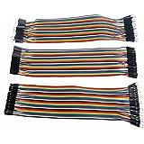 Foxnovo  mehrfarbiger 40-poliger Stecker an weiblichen Male zu Mann Female zu Frau Breadboard Jumper Drähte Flachbandkabel 3 x 20cm