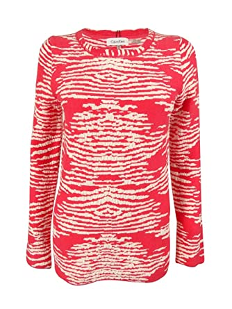 64bae77355 Calvin Klein Women s Long Sleeves Crew Neck Sweater (XL