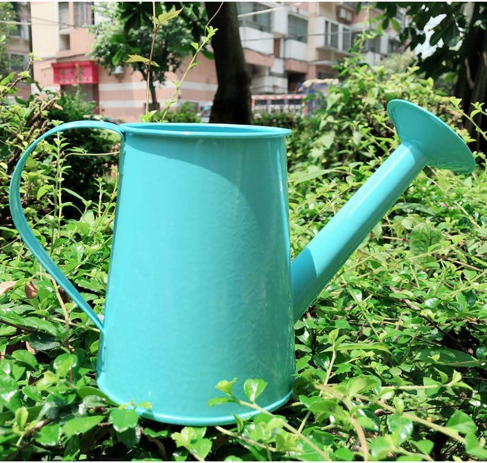 SANGDA Iron Watering Can Gardening Long Mouth Watering Can Multi-Color Metal Watering Bucket Children Iron Watering Tin Can Sprinkling Kettle Gardening Irrigation Spray Bottle