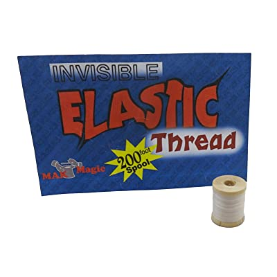 Invisible Magic Elastic Thread - 200' Reel: Toys & Games