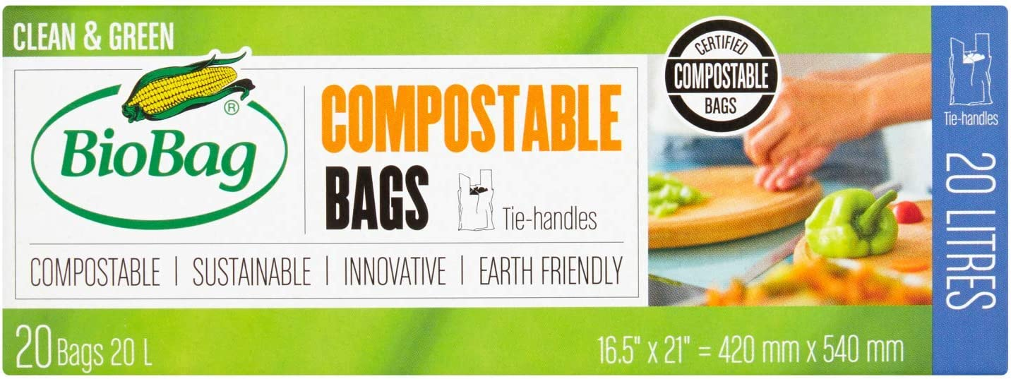 BioBag - Bolsa compostable, 20 L, camiseta, 20 unidades: Amazon.es ...
