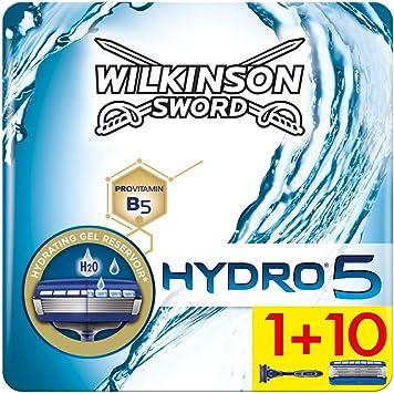 Wilkinson Sword Ffp ECO box Pack Hydro 5 - Kit de afeitado manual con maquinilla de afeitar de 5 hojas para hombre + 11 recambios de cuchillas, cuidado masculino: Amazon.es: Salud y cuidado personal